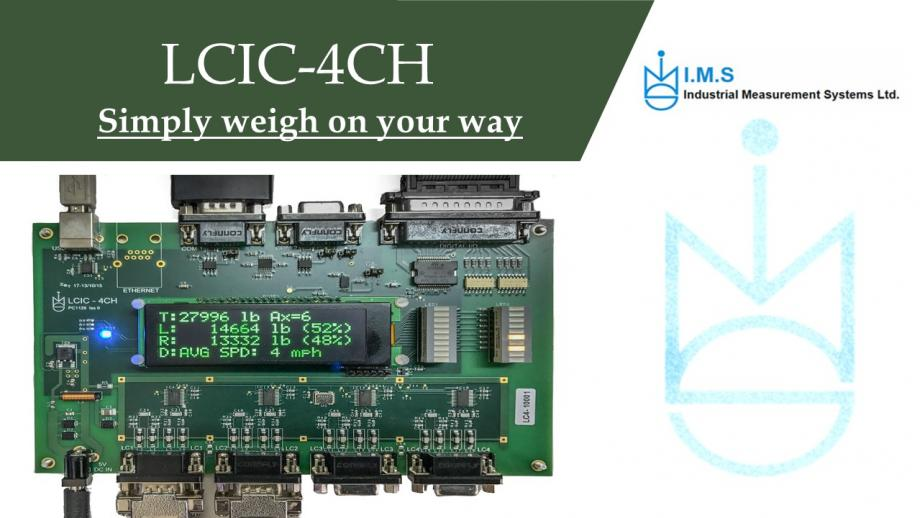 4 Channels high-speed  weighing and force measurem